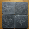 BEE Coasters - Hand Carved Natural Slate - More Designs Available