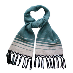 Sea Green Knitted Lambswool Scarf
