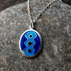 Silver and Enamel Pendant