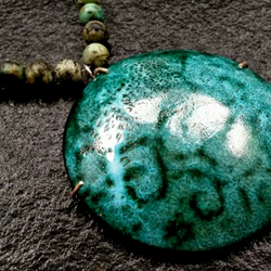 enamel and copper necklace