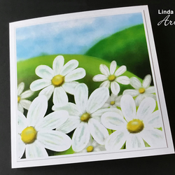 Summer Daisies Card, Flower card, Summer, Greetings card