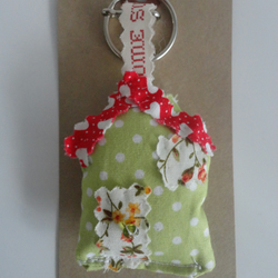 fabric house keyring - new home gift