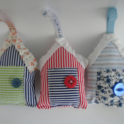 fabric beach huts