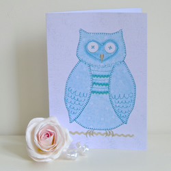 Boys birthday card owl