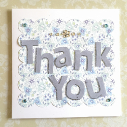 SALE Thank you card - handmade