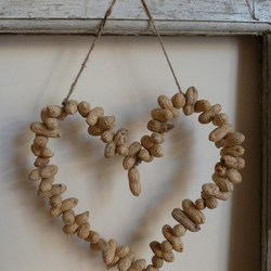 Peanut Heart Wreath