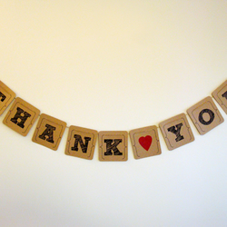 'Thank You' Banner - Vintage Style Wedding Banner