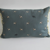 Sophie Allport Pugs Cushion with Cream Bobbles