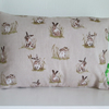 Rabbits  Cushion with  green  bobbles