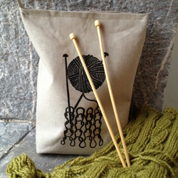 Stocking stitch knitting bag