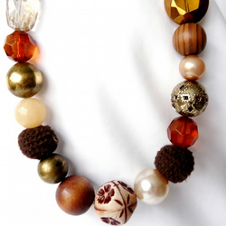 Mixed Brown Bead Necklace