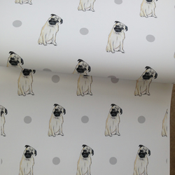 Pug, wrapping paper, gift wrap, for pug lovers, for dog lovers ,for pug owners