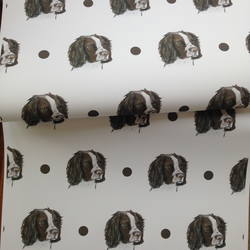 Springer spaniel,wrapping paper,gift wrap, for springer lovers,for dog lovers