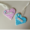 Ceramic Heart Decorations. Pet. Christmas, Personalised