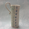 Handmade porcelain button and lace jug small