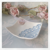 Handmade porcelain trinket dish With button detail
