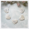 "Ceramic heart bunting ""Home Sweet Home"""