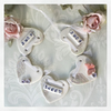 "SALE Ceramic heart bunting ""Home Sweet Home"""