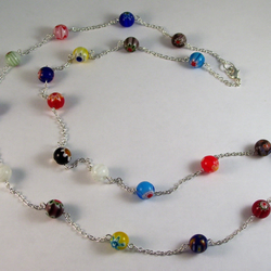 Long Millefiori Necklace