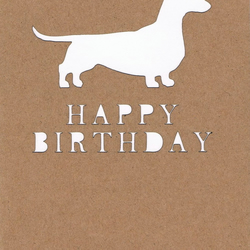 Dog (daschund) Birthday card