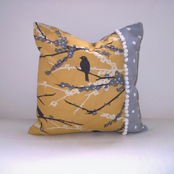 Retro Bird, Bobble & Spot Cushion