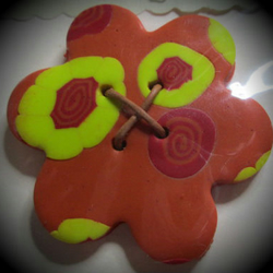 Handmade Polymer Clay Button