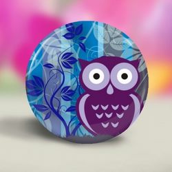 58mm Wise Owl Fridge Magnets - 12 different designs to collect