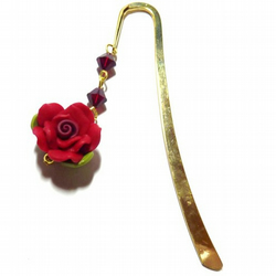 Swarovski Rose Bookmark - The Princess' Garden