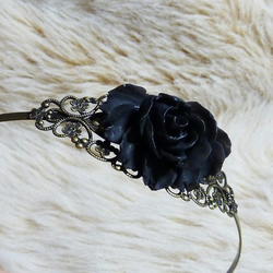 ***reserved for the lovely Laura** Rose Headband - If You Go Down To The Woods Today....