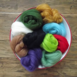 100g Multi Pack of Merino Wool Fibres ideal for needlefelting.