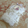 Vintage Lace Goody Bag Scrapbook Card Sewing