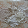 Vintage Doily Set Altered Art Sewing