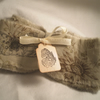 Butterfly Shabby Chic Hand Stamped/Tea dyed Fabric Ribbon
