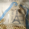 *RESERVED FOR KAREN*Shabby Chic Paris Handstamped Sachets