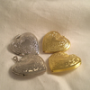 Floral Heart Lockets x 4  Silver/gold