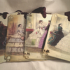 Victorian Ladies Post Cards Shabby Chic x 4