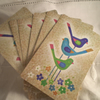 Bird Playing Cards Paper Ephemera Scrapbook Altered Art x 6
