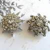 Vintage 1950's Wedding Diamante Brooches Altered Couture Projects