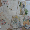 Vintage Wedding Cards and Tags Paper Ephemera Scrapbook Altered Art
