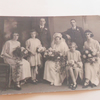 Vintage Wedding Photograph 1920's Bride Groom Paper Ephemera