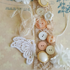 Vintage Lace Buttons Butterfly Inspiration Kit