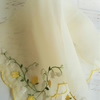 Vintage Embroidered Handkerchief Pale Lemon