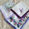Vintage Handkerchief Purple Set x 3  Recycle Sewing Projects