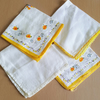 Vintage Handkerchief Yellow Set x 4 Recycle Sewing Projects