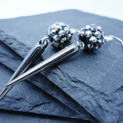 Sparkle and Spike Gunmetal Earrings
