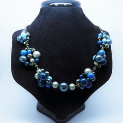 Seafoam Blue and Green Statement Necklace