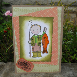 Hand Made Man  Fishing  Birthday Card