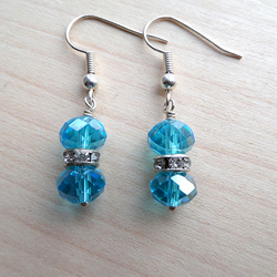 Turquoise Sparkle drop earrings