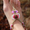 Barefoot Sandals Summer Festival Gypsy Beaded macrame anklet