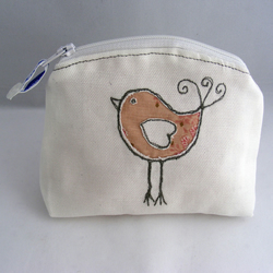 White Little Bird Coin Purse KS020